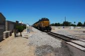 Approaching Freight Train — Stock Photo