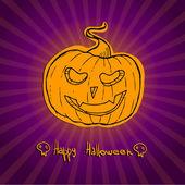 Hand drawn illustration - Happy halloween. Sketch — Stock Vector