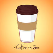 Hand drawn vector illustration - Take coffee to go — Stock Vector