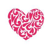 Hand drawn vector illustration - decorative heart — Stock Vector