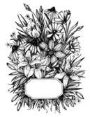 Hand drawn vector illustration -  wedding invitation. Vintage ca — Stock Vector