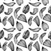 手描きの背景のシームレスなパターン - バラの花びら. — ストックベクタ