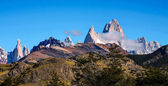 Fitzroy and Cerro Torre from the Condors Nests — Stock Photo