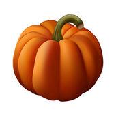 Orange pumpkin (gradient mesh) — Stock Vector