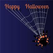 Cadılar Bayramı tebrik kartı için metin alanı ile — Stok Vektör