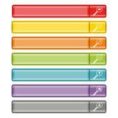 Search button bar set 3 — Stock Vector