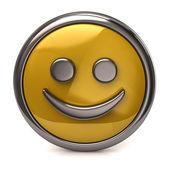 Happy yellow button — Stock Photo