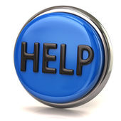 Blue help button — Stock Photo
