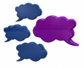 Clouds-  speech bubbles — Stock Photo