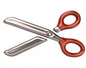 Scissors icon on white — Zdjęcie stockowe