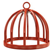 Illustration of bird cage — Stock Photo