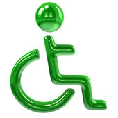 Handicap icon of disabled person — Stock Photo