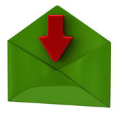 Open envelope with arrow — Stock Photo