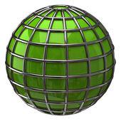 Green Globe on white — Zdjęcie stockowe