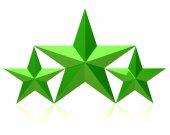 Green stars of the winners — Stock Photo