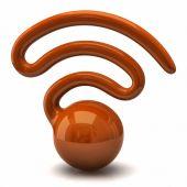 Wifi icon on white — Stock Photo