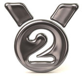 Round medal icon - second — Stock Photo