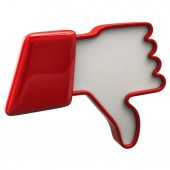 Red thumb down icon — Stock Photo