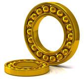 Golden ball bearing — Stock Photo