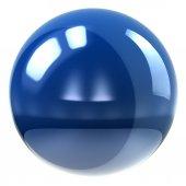 ホワイトの球アイコン — ストック写真