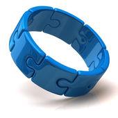 3d puzzle ring — Zdjęcie stockowe