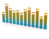 Colorful graphic equalizer — Stock Photo
