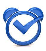 Blue alarm icon — Stock Photo