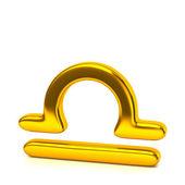 Golden libra zodiac sign — Стоковое фото