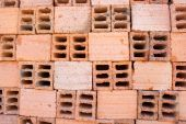Hollow bricks — Stock Photo