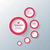Circle modern business Infographics design template. — ストックベクタ