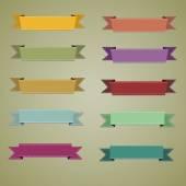 Set of retro ribbons and labels. — Stock vektor