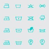Set of washing symbols — Stock Vector
