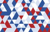Triangle design pattern background.red blue geometric abstract b — ストックベクタ