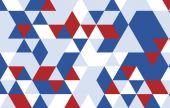 Rode blauwe driehoek patroon — Stockvector