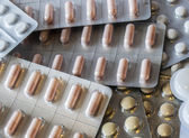 Pills in blister — Stock Photo