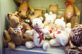 Street sales stand with teddy bears — Stock Photo