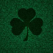 Texture of textile with cloverleaf background — Stock Photo