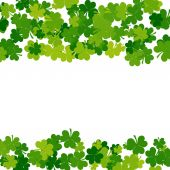 St. Patrick's day background in green colors with place for text — Stock Photo