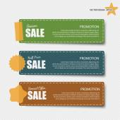 Cute note papers with sale promotion. — Stock Vector