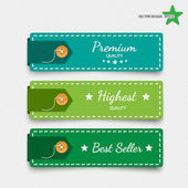 Clothing labels. Vector. — Stock Vector