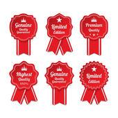 Vintage premium quality labels set. — Vector de stock