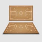 Vector Basketball Field.vector — Stock Vector