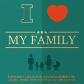 Family design over background vector illustration flat — Stock Vector
