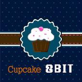 Cake 8 bit  — Stock Vector