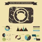 Ilustração de infográfico de estilo de vida saudável — Vetor de Stock
