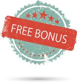 Vector illustration of grunge icon free bonus — Stock Vector