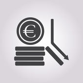 Vector illustration of business and finance icon — Stock Vector