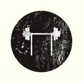 Illustrazione vettoriale di silhouette moderna icona — Vettoriale Stock