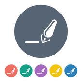 Staple remover icon coin — Stock Vector