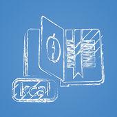 Illustration vectorielle d'icône d'affaires et des finances — Vecteur